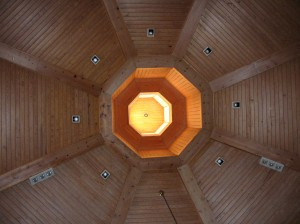 The cupola view above our heads at Patterson Avenue Baptist