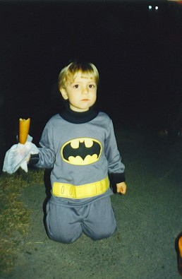 "Son Michael age 4 as ""The Batman"""